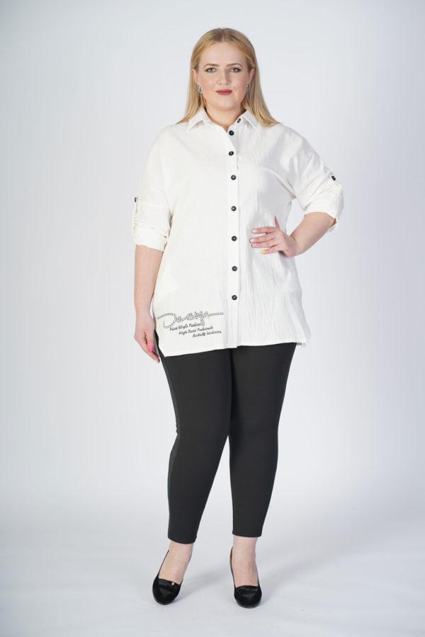 Рубашка Александра (белый лен)