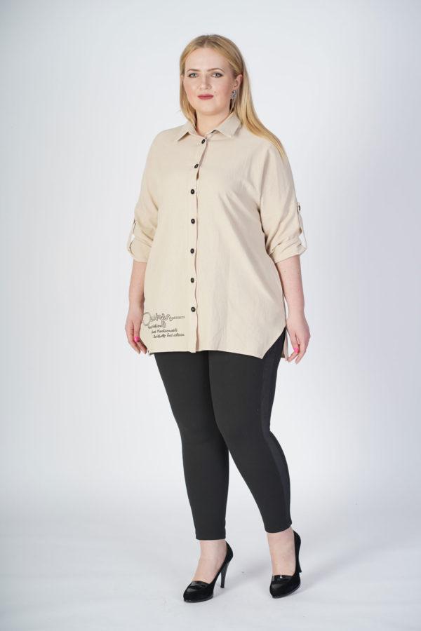 Рубашка Александра (молочный лен)
