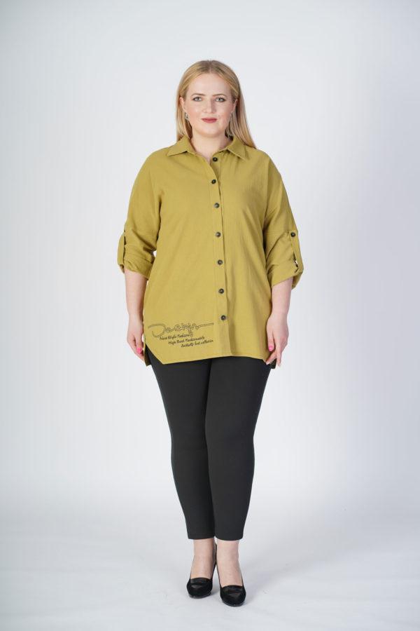 Рубашка Александра (хаки лен)