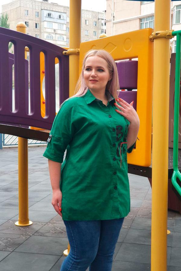 Рубашка Тренд (Зеленый)