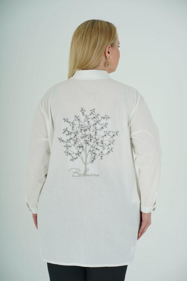 Рубашка Сакура (белый)