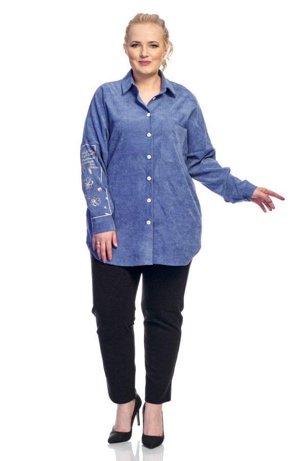 Рубашка Вельвет (джинса)