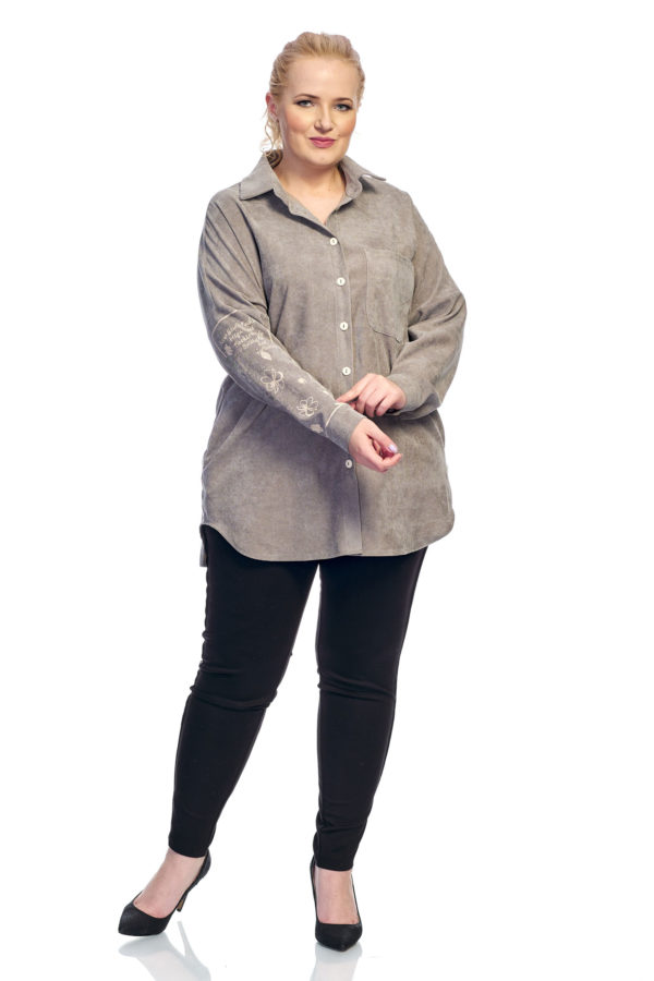 Рубашка Вельвет (светло серый)