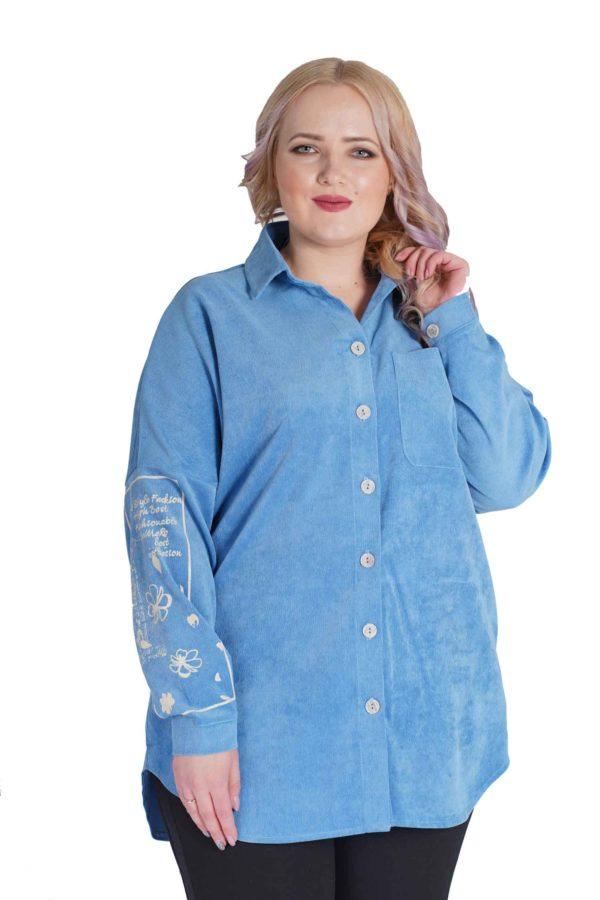 Рубашка Вельвет (голубой)