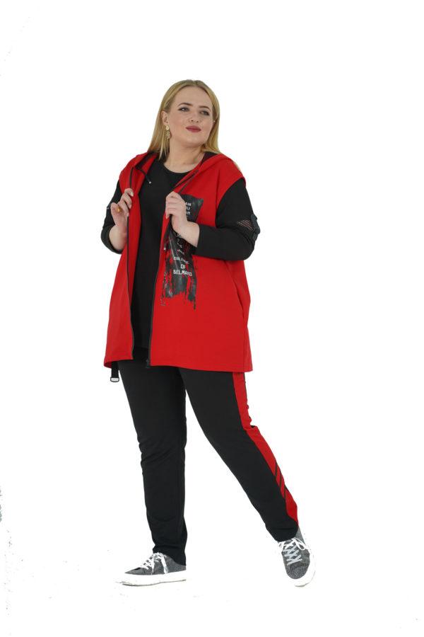 Костюм (жилет+штаны) Лея (красный)