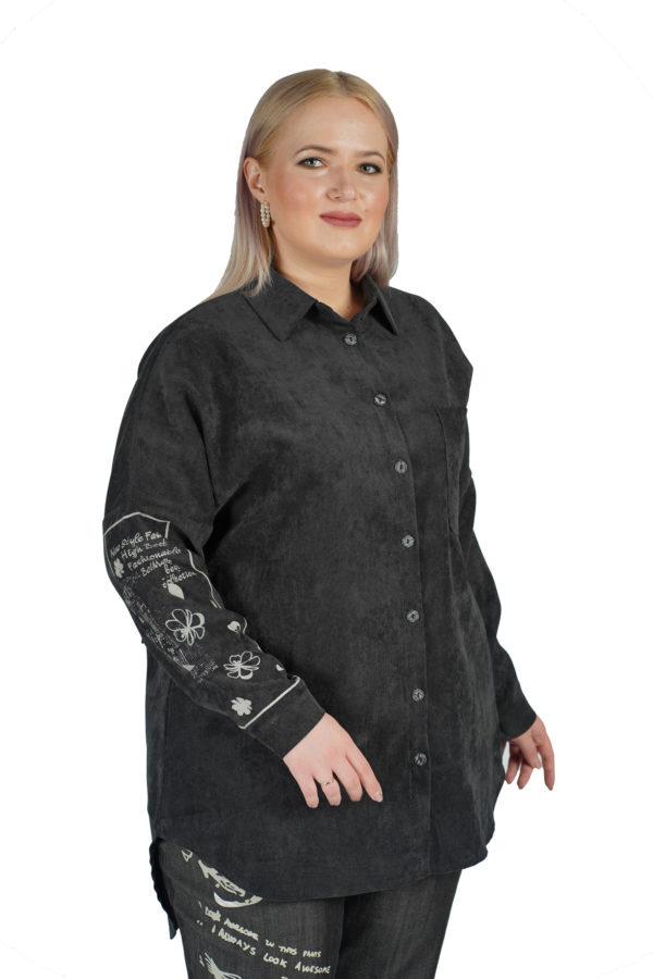 Рубашка Вельвет (черный)