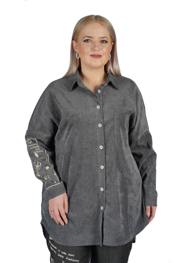 Рубашка Вельвет (серый)