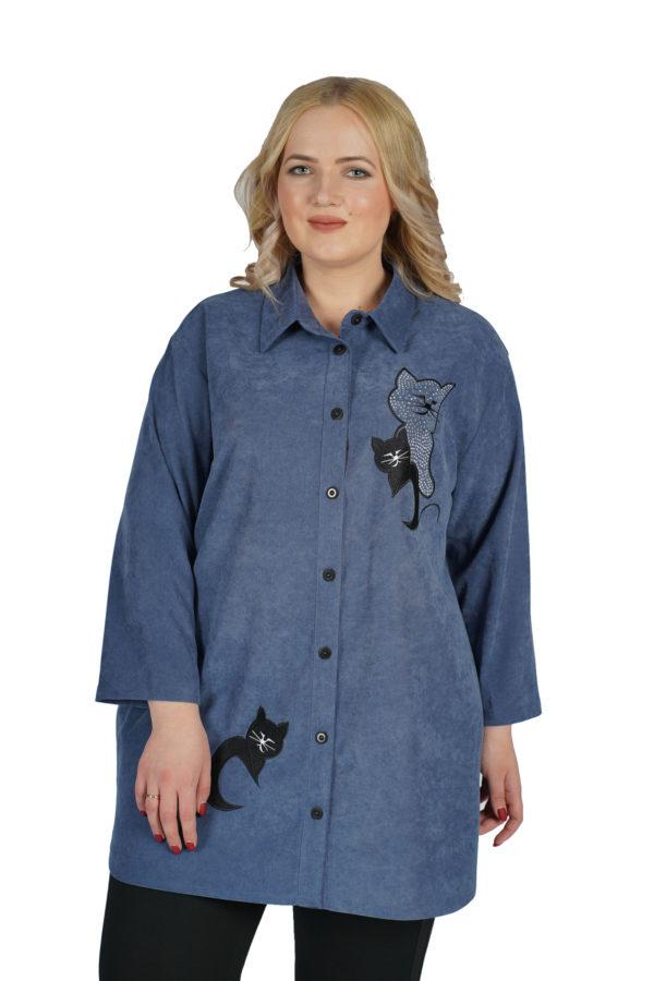 Рубашка Блеск (синий)
