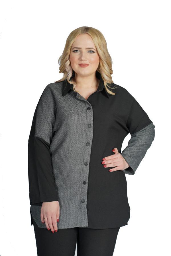 Рубашка Вероника (серый)
