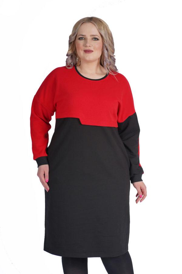 Платье Дина (красный)
