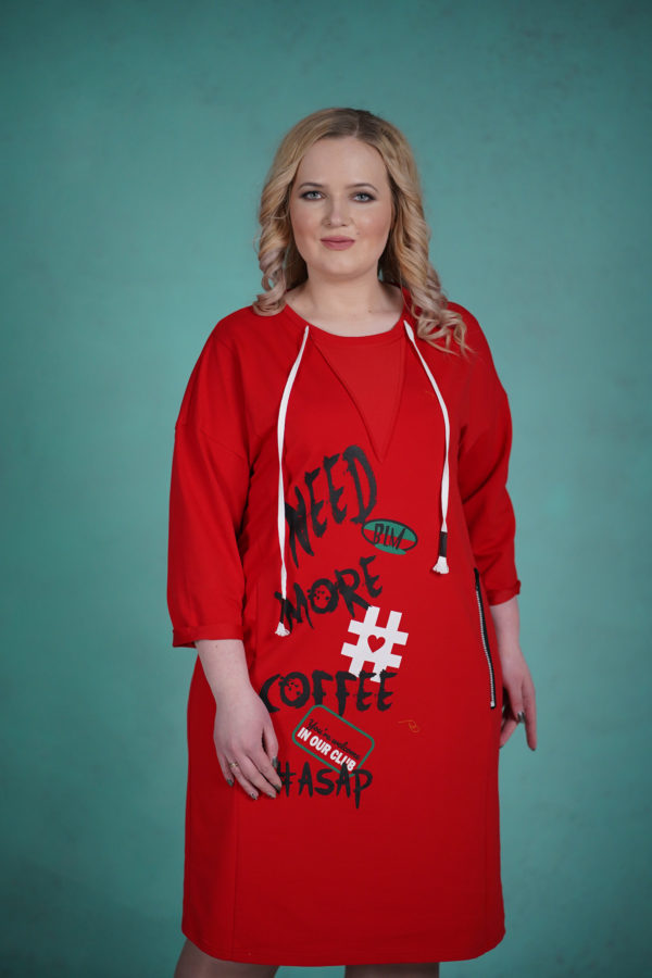 Платье Coffee (Красный)