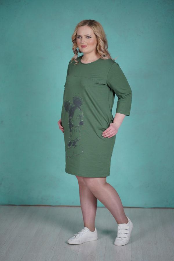 Платье Микки Маус (Зеленый)