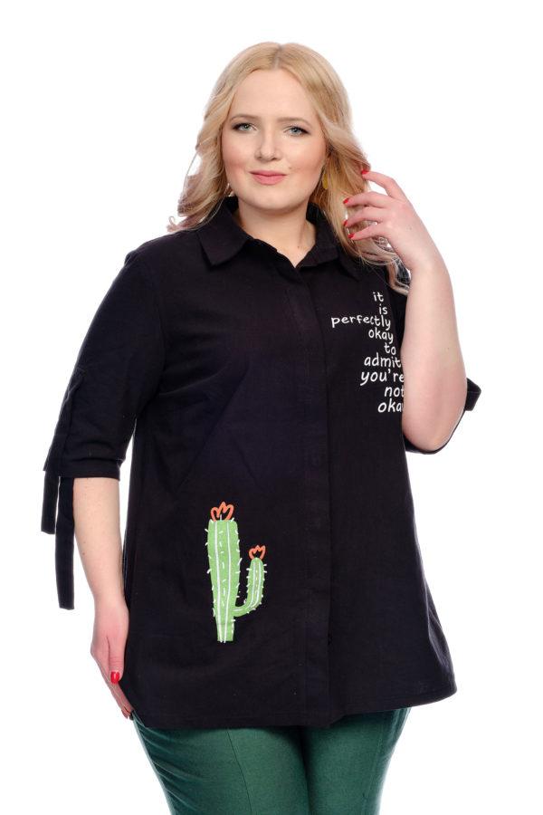 Рубашка Кактус (Черный)
