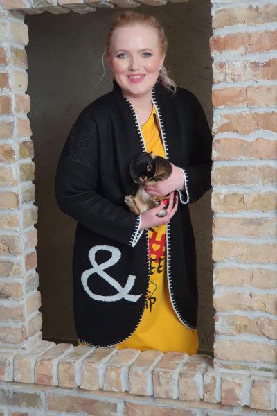 Кардиган FASHIONABLE, платье COFFEE