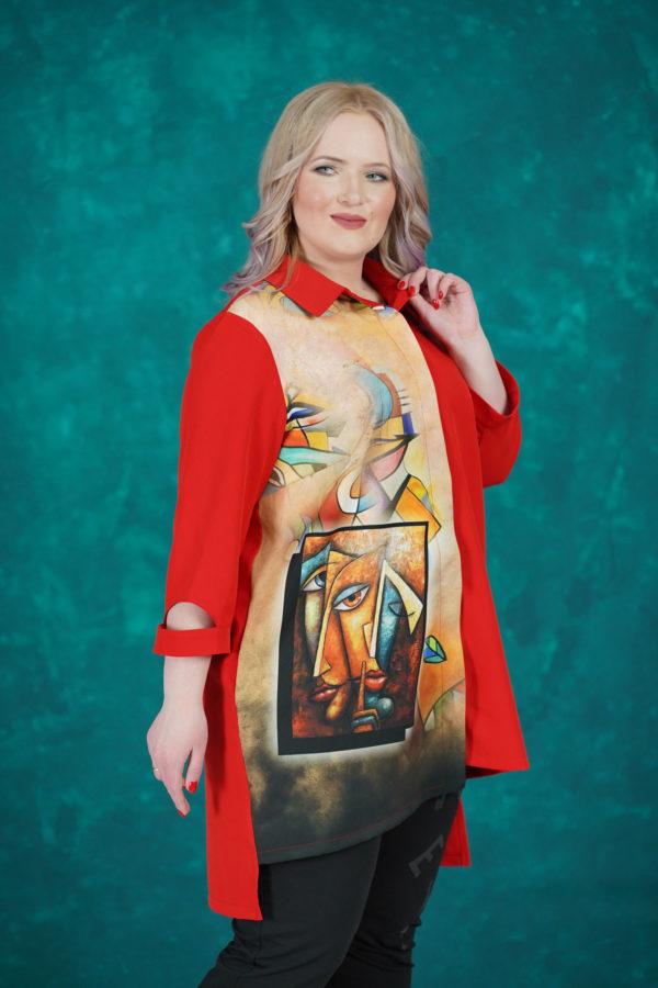 Рубашка Пикассо (красный)