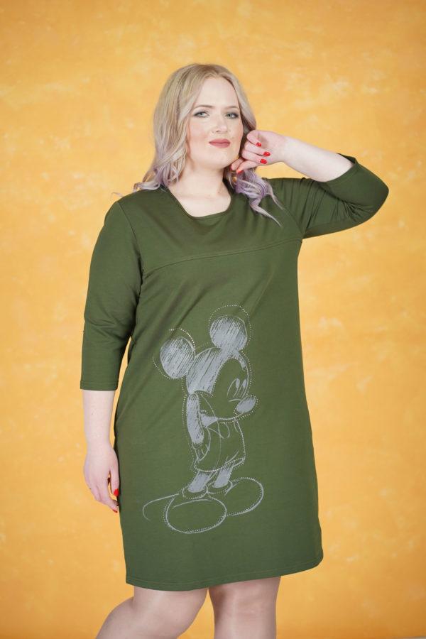 Платье Микки Маус (Хаки)
