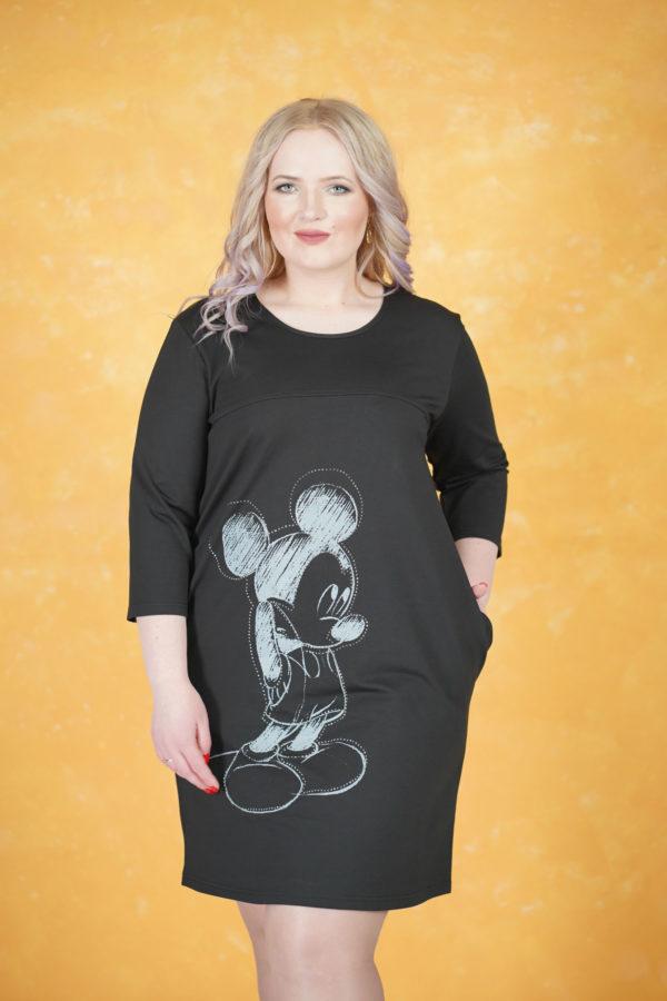 Платье Микки Маус (Черный)