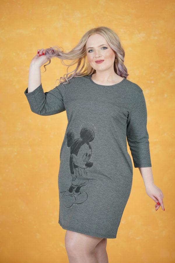 Платье Микки Маус (Серый)