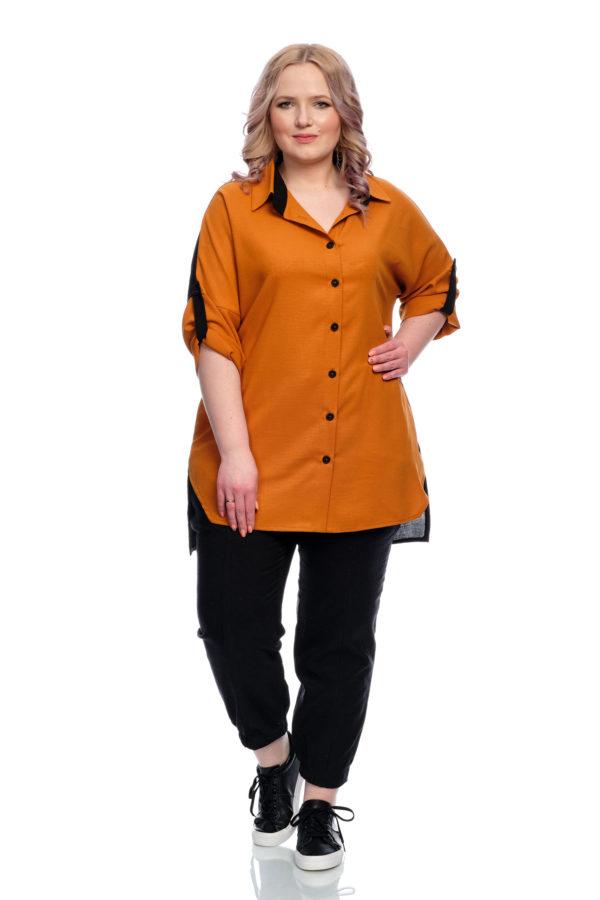 Рубашка Африканка (Кирпичный)