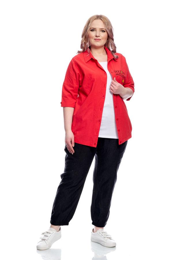 Рубашка Смайлик (Красный)