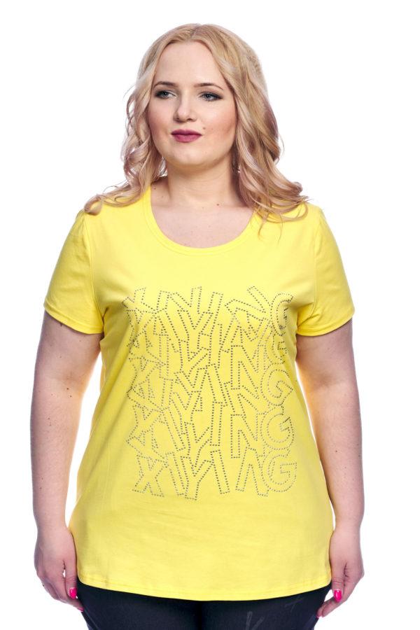 Футболка Стразы (Желтый)