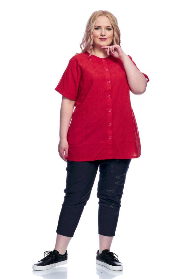 Рубашка Стразы (Красный)