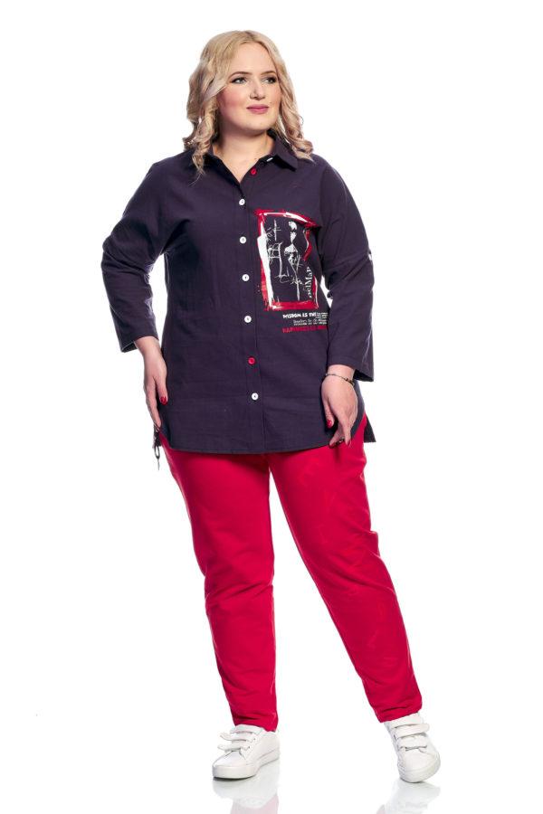 Рубашка Клео (черника)