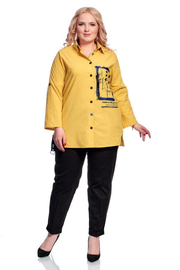 Рубашка Клео (желтый)