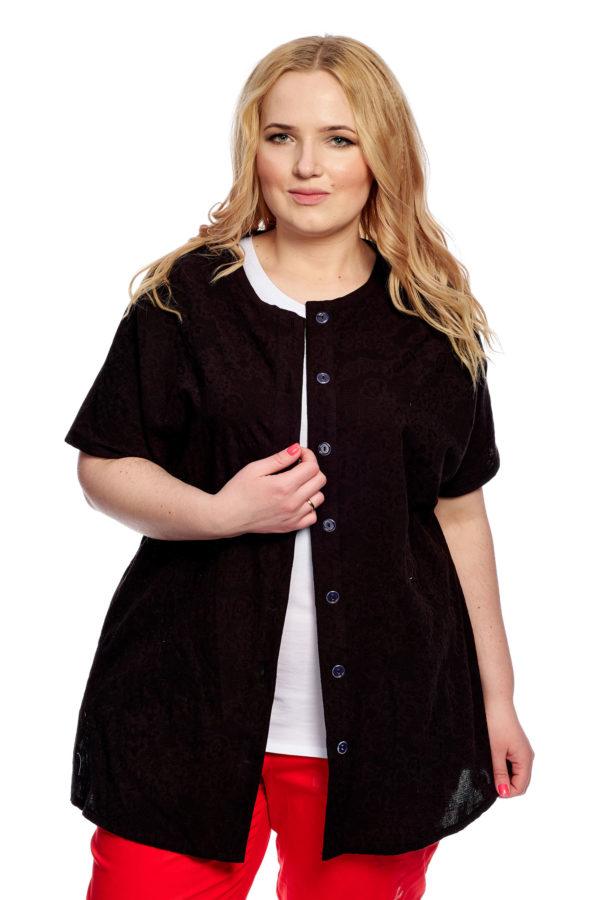 Рубашка Стразы (Черный)
