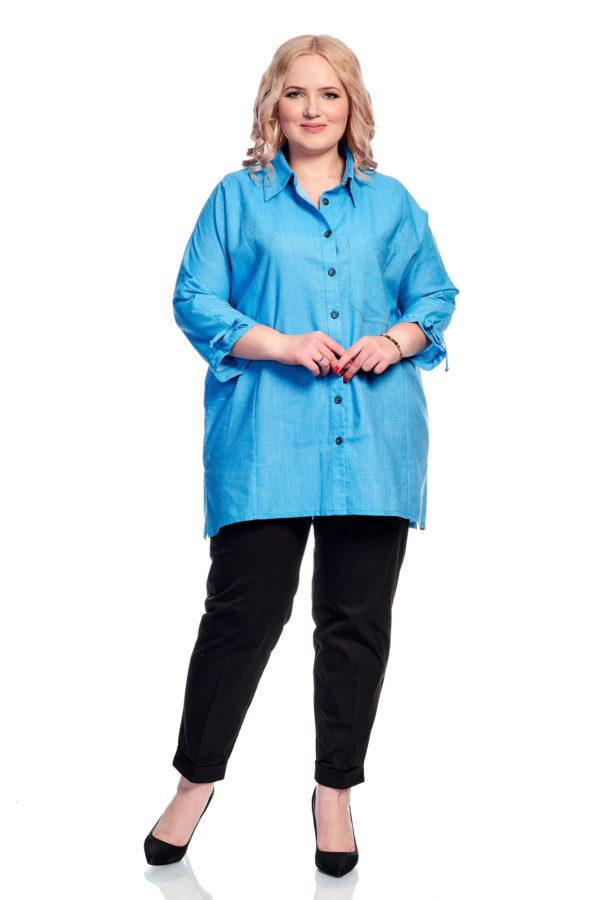 Рубашка Вышивка (синий)