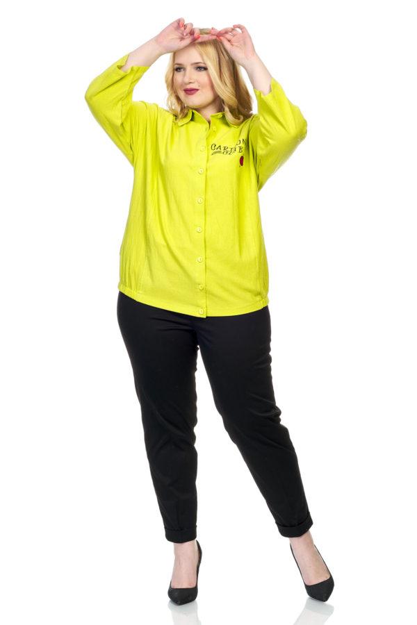 Рубашка Смайл (лайм)