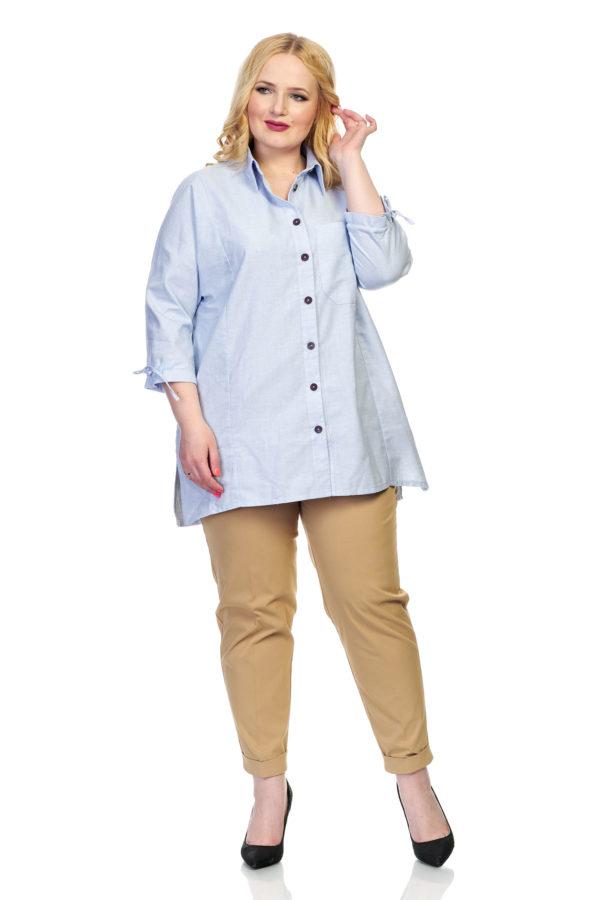 Рубашка Вышивка (голубой)