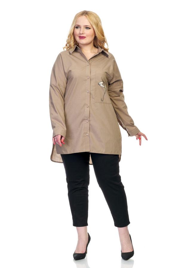 Рубашка Зонтик (коричневый)