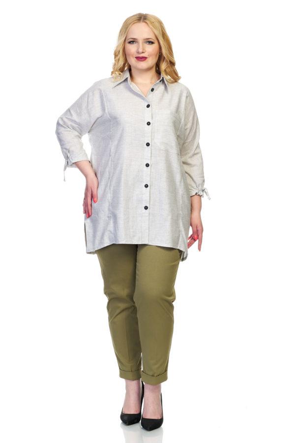 Рубашка Вышивка (серый)