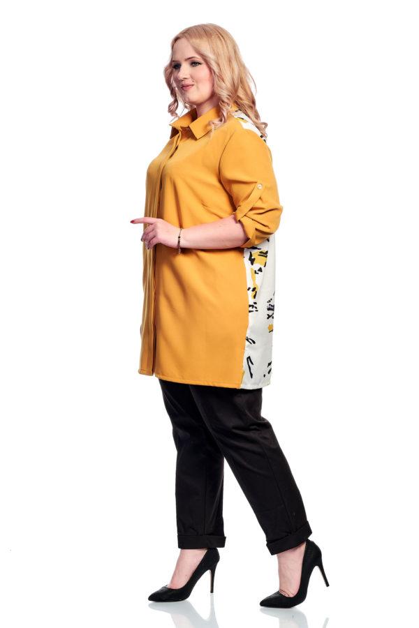 Рубашка Сублимация (горчица)