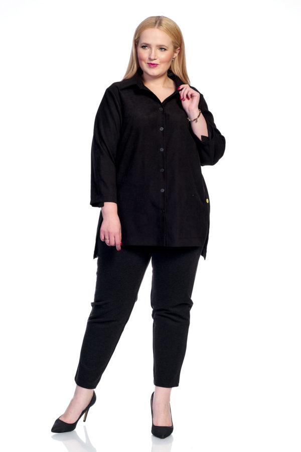 Рубашка Микровельвет (черный)