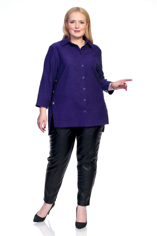 Рубашка Микровельвет (индиго)