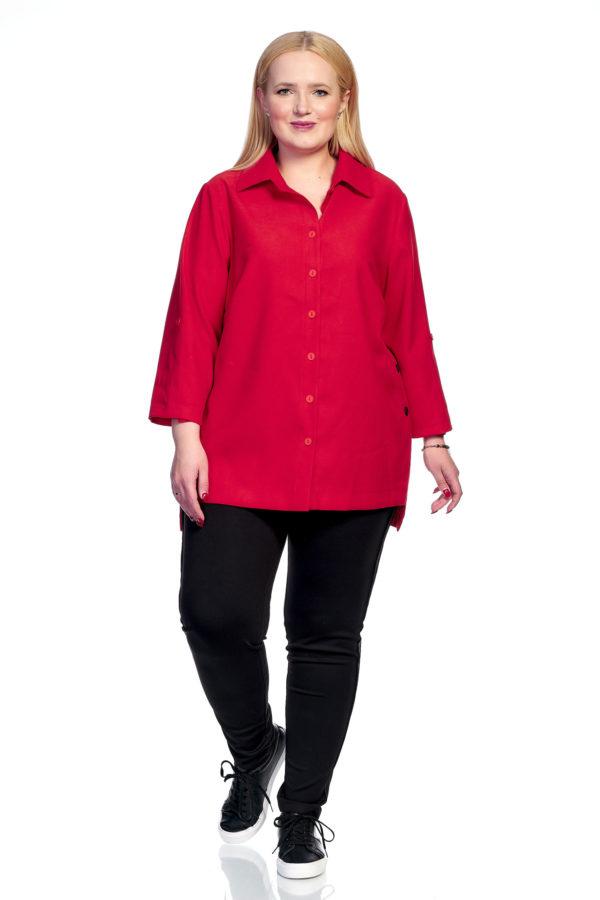 Рубашка Микровельвет (красный)