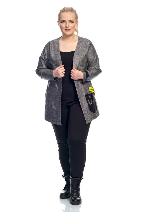 Пиджак Букле (светло серый)