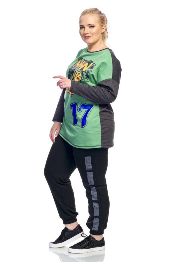Туника 17 (зеленый+серый)