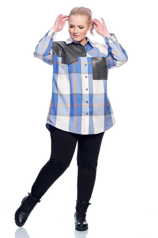 Рубашка Клеточка (голубой)