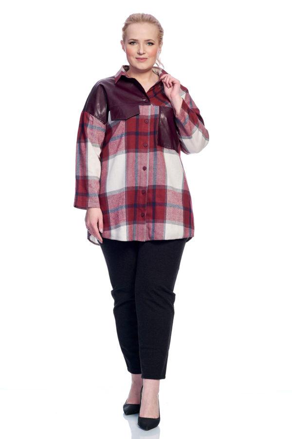 Рубашка Клеточка (сумеречный сиреневый)